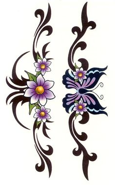 Temporary Tattoos Tribal Flower Butterfly Armband - Free Download ... - ClipArt Best - ClipArt Best