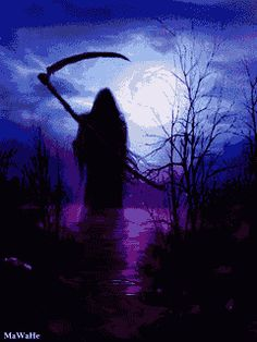The Reaper and the Way Scary Wallpaper, Purple Wallpaper, Wallpaper Pictures, Desktop Pictures, Grim Reaper Art, Don't Fear The Reaper, Dark Reaper, Dark Fantasy Art, Grim Reaper Pictures