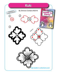Tangle Pattern with Variation by Simona Cordara. Zentangle Zendoodle Doodle Art Pen and Ink Drawing Zentangle Drawings, Doodles Zentangles, Doodle Drawings, Doodle Art, Pen Drawings, Doodle Designs, Doodle Patterns, Zentangle Patterns, Flower Patterns