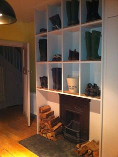 Utility boot storage idea from home
