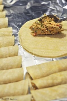 When I put Oven Baked Chicken Taquitos on the menu all my kiddos get so excited. I have been making these taquitos for a few years and they are always a crowd pleaser. Mexican Dishes, Mexican Food Recipes, Diabetic Recipes, Baked Taquitos, Homemade Taquitos, Good Food, Yummy Food, Oven Baked Chicken, Chicken Pizza