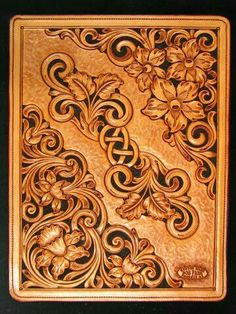 Bob Park uploaded this image to 'Photo Gallery'. See the album on Photobucket. Leather Stamps, Leather Art, Leather Books, Custom Leather, Leather Design, Leather Tooling, Leather Jewelry, Leather Craft Tools, Leather Projects