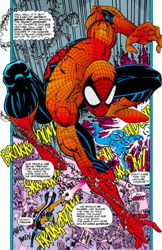 Spider-Man Story & Art by Erik Larsen Colors by Gregory Wright Marvel Comic Universe, Marvel Comic Books, Comics Universe, Comic Book Characters, Marvel Dc Comics, Marvel Heroes, Comic Books Art, Comic Art, Spider Verse