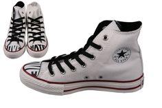 fantastische Converse All Star CT Contrast Wds Hi Love Hate (Wit)