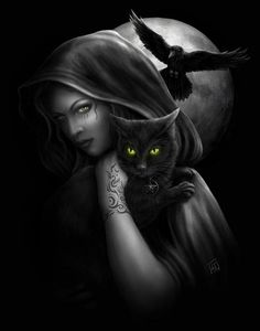 Portfolio for illustrator and designer, Linda M Jones. Gothic, fantasy, cute and roleplaying games; designs for garments and images available for license. Wicca Kunst, Aztecas Art, Wiccan Art, Gothic Art, Gothic Images, Book Of Shadows, Crazy Cats, Dark Art, Fantasy Art