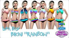 Spa Day Bikini Rainbow at Annett's Sims 4 Welt via Sims 4 Updates