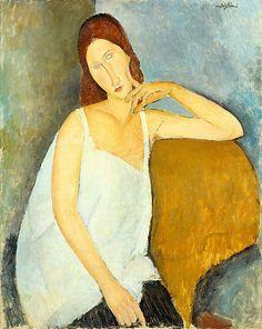 portraits d'artistes: Portrait de Jeanne Hébuterne, par Amedeo Modigliani
