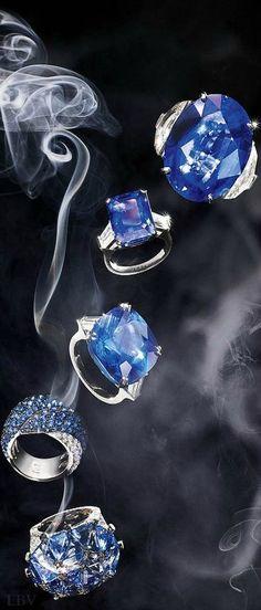 Bulgari, Graff, Harry Winston, Chopard and Chanel Fine Jewelry ring in white gold, sapphire and diamonds | LBV ♥✤