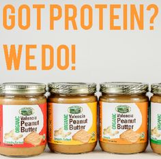 Protein from plant source is good for you. Food Inc, Natural Foods, Peanut Butter, Protein, Plant, Jar, Organic, Healthy, Health