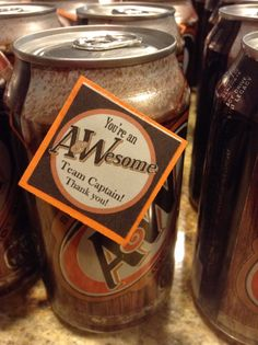 A&W Root-beer for Relay For Life team captain thank you gifts. Employee Appreciation Gifts, Volunteer Appreciation, Gifts For Young Women, A&w Root Beer, Volunteer Gifts, Relay For Life, Thanksgiving Gifts, Inexpensive Gift, Simple Gifts