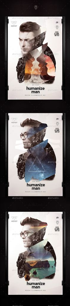Humanize Poster — Photoshop PSD #magazine #human • Available here → https://graphicriver.net/item/humanize-poster/13627002?ref=pxcr