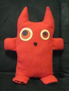 Items similar to Creature Comfort Plushie Doll 'Diablo' on Etsy Comfortable Pillows, Creature Comforts, Plushies, Tween, Pikachu, Dinosaur Stuffed Animal, Creatures, Club, Dolls