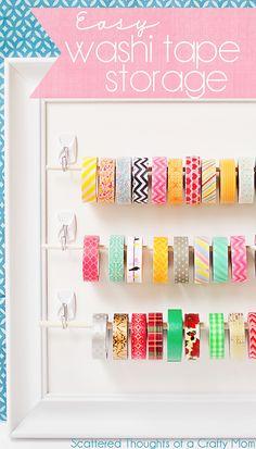 Cute and so easy! Washi Tape storage and organization idea.