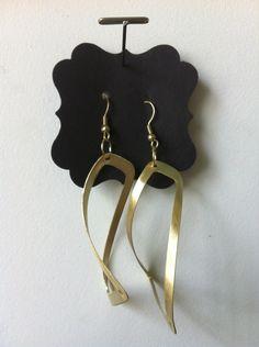 Hand pierced brass earrings  lisaerbacher.com