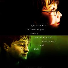 And to you. If you have stuck with Harry until the very end.