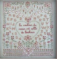 french cross stitch pattern  la couleur du by thecottageneedle, $21.00