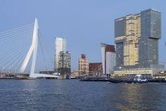"""Rotterdam: Erasmusbrücke und die """"vertikale Stadt"""" an der Neuen Maas"""