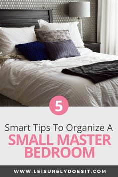 Organizing a small master bedroom for a couple can definitely be a challenge. You need to have a restful space with enough storage to accommodate two people comfortably. Here are some simple organization tips. Bedroom Door Design, Modern Bedroom Design, Diy Bedroom Decor, Bedroom Furniture, Bedroom Beach, Bedroom Ideas, Bedroom Storage For Small Rooms, Small Master Bedroom, Master Suite