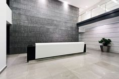 Solid Surface reception desk DANYA CEBUS by Atvangarde HI-MACS®