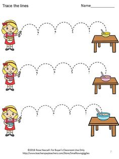 Fine Motor Skills Fairy Tales Tracing Activities P-KK image 2 Writing Center Kindergarten, Preschool Writing, Pre Writing, Preschool Printables, Preschool Worksheets, Tracing Worksheets, School Fun, Fine Motor Skills, Special Education