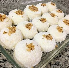 Image may contain: food- Grntnn olas ierii: yiyecek Image may contain: food - Easy Cake Recipes, Dessert Recipes, Desserts, Coconut Whipped Cream, Rice Crispy Treats, Dessert Cups, Easy Snacks, Granola, Food And Drink