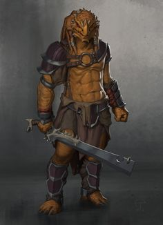ArtStation - Dragonborn Barbarian, Ted Ottosson