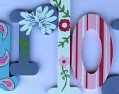Wooden Wall Letters Monogram Initials Hanging Baby Name Wall Art Kids Room Decor Personalized Gift Alphabeticals Alphabet Letters