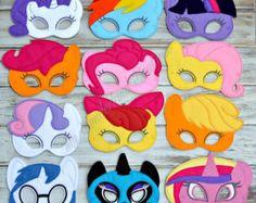 6 mi pequeño pony para imprimir máscaras de la por PartyDesignsDIY