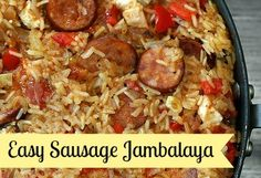 Easy Sausage Jambalaya Recipe - So Good You'll Slap Yo Momma! ;)   http://www.culinarymusings.com/2013/03/dutch-oven-jambalaya-recipe-so-good-youll-slap-yo-momma/