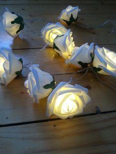 DIY foam rose light