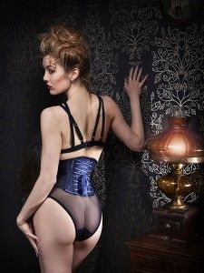 "Orchid Corsetry ""Midnight"" Lingerie Set 
