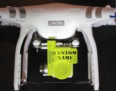 Our UAV Bits Custom Lens Cap for the Phantom 3 line is designed to give your Phantom a professional look with your company's name on a high quality lens cap/gimbal lock. The honeycomb pattern gives th