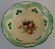 Rare Homer Laughlin Virginia Rose Bowl Peaches & Plums Green Clover A 39 N 8 USA FOR SALE • $15.99 • See Photos!  For your consideration, a beautiful centerpiece bowl from Homer Laughlin made in 1939. Virginia Rose refers to the shape of the bowl which Homer Laughlin started experimenting with in the 252897088567