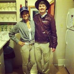 Indiana Jones and Short Round from Temple of Doom. | 50 Couple Costume Ideas To Steal This Halloween