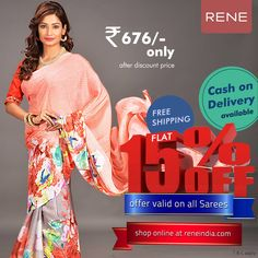 Opt for a trendy casual look adorning this Chiffon print Saree in Peach colour. It is covered with floral Prints. Accompanied by an unstitched Chiffon blouse. Peach Colors, Colours, Printed Sarees, Casual Looks, Kimono Top, Floral Prints, Chiffon, Feminine, Sari