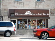 Millpond Records & Books - found our listing on GrandSocial.ca. I could give them a picture of Millpond when we are open!
