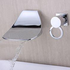 Bathtub Faucet Contemporary Waterfall Brass Chrome USD