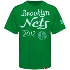 Sportiqe Brooklyn Nets Cornbread Shoeless St Patrick's Day T-Shirt - Kelly Green