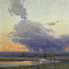 Cloud Dance by Kim Casebeer Oil ~ 30 x 30