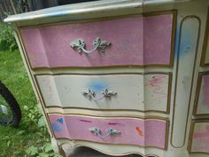 French Provincial Dresser, Rainbow Chevron, Upcycle, Stripes, Furniture, Home Decor, Decoration Home, Upcycling, Room Decor