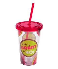 Birthday beverages stay colder longer in this durable insulated cup. Constructed from BPA-free materials and featuring a removable straw and festive design, it's the perfect sipper for enjoying the sweeter things in life.Includes cup, straw and lid6.3'' H x 4'' diameterHolds 17 oz.BPA...