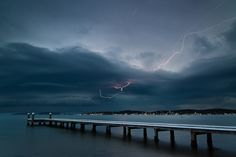 Storm Lake Macquarie by Russ Marsh Storm Lake, The Rainmaker, Newcastle Nsw, Central Coast, Swansea, My Town, Thunderstorms, Past, Backyard