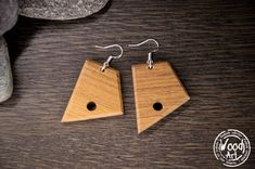 Your place to buy and sell all things handmade Wooden Earrings, Dangle Earrings, Wood Oil, Walking In The Rain, Teak Wood, Craft Gifts, Natural Wood, Dangles, Handmade Items