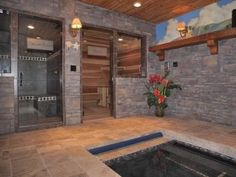 Hot tub, dry sauna, steam room. Repeat. If I ever get rich I'm so building this in my house ;)