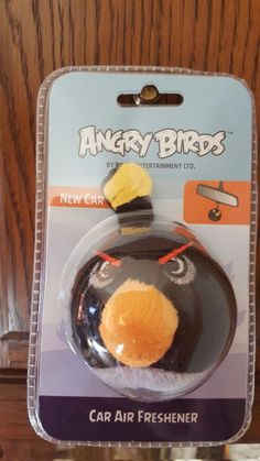 ROVIO ~ ANGRY BIRDS ~ 3D ~ PLUSH AIR FRESHENER ~ BLACK BIRD ~ NEW CAR SCENT…