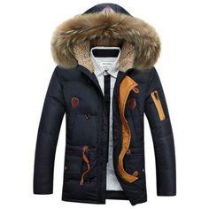 617bf84d779ec New Men Winter Down Coat Duck Down Thick Warm Fur Hood Parka Jacket Outwear  Size