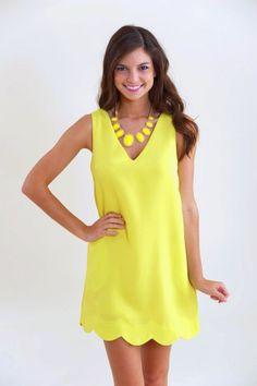 the cutest shift dress #yellow #preppy