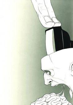 broadcast push medium... - (corporate media)(one to many)(kill your television)(vomit)(brainwash)(illustration)