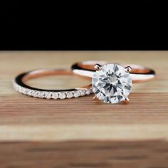 Traditional Engagement Ring and Universal Wedding Band