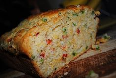 Jalapeno Cheddar Bread - this stuff is ridiculously good.  Takes about 10 minutes to put together and most of that is chopping up the peppers.
